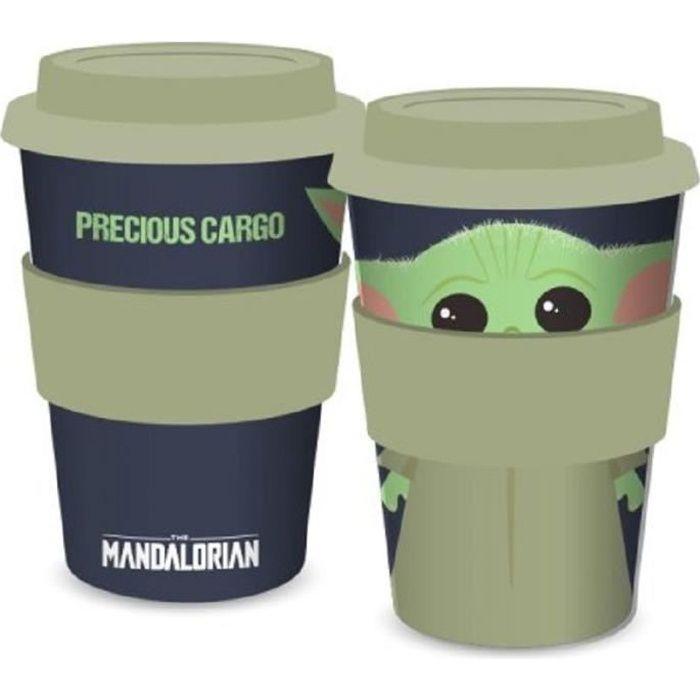 Mug de voyage Baby Yoda -The Child- Star Wars - Mandalorian - 400ml - Vert et noir