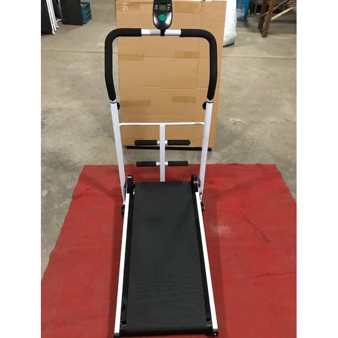 Tapis de Marche Tapis Roulant Mécanique NOIR avec des Sit-ups