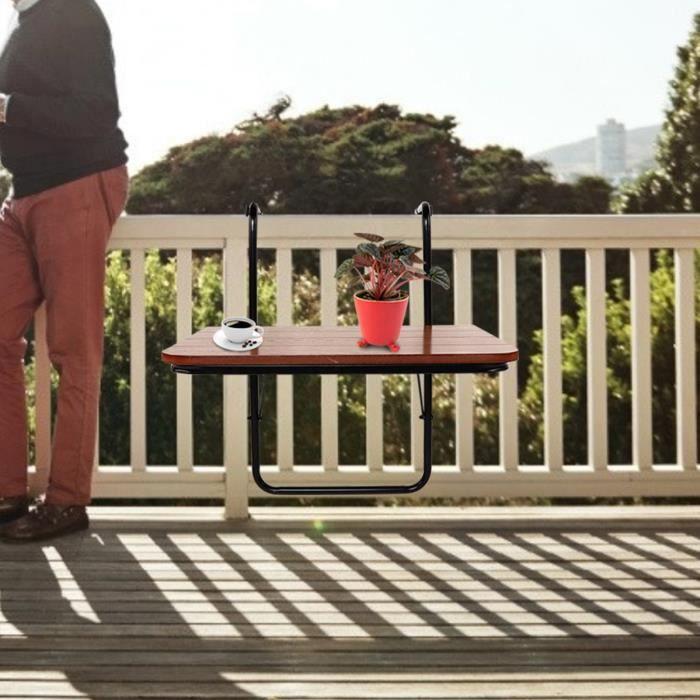 Balcon Table suspendue Garde-corps de haute qualité Table de jardin pliante en fer HB021 -RUI