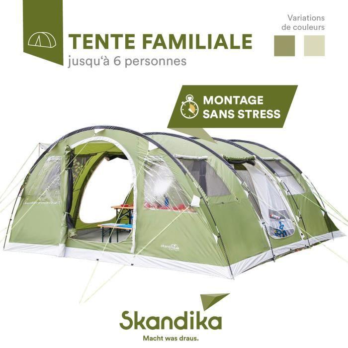 skandika Gotland 6 - Tente Camping 6 Personnes - 540 X 450 Cm - Vert