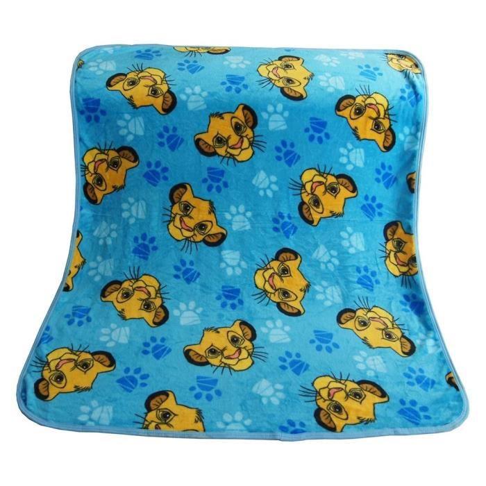 couverture Super douce bleue Simba roi Lion pour bébés filles et garçons, plaid de couchage Animal de compagnie, [1DE0AEE]