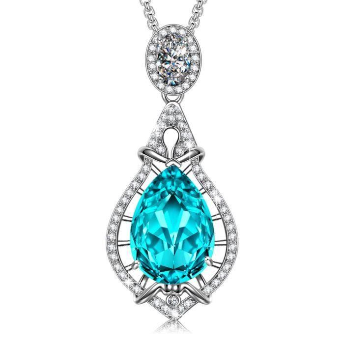 SIVERY 'chérir l'amour' collier femme, Cristal Swarovski Elements, bijoux femme, pendentif femme, cadeau femme