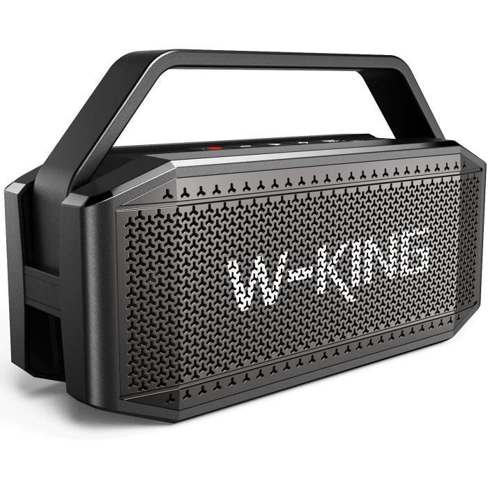 Enceinte Bluetooth, W-KING 60W Portable Bluetooth Speaker - Basse puissante haut parleur Boombox - Autonomie 40 hrs - 12000mAh B97