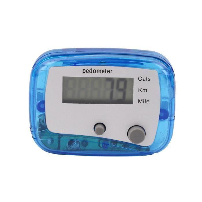 Podomètre LCD Étape Marche Jogging Calorie Compteur Distance Fitness + Clip de ceinture C0AA2C