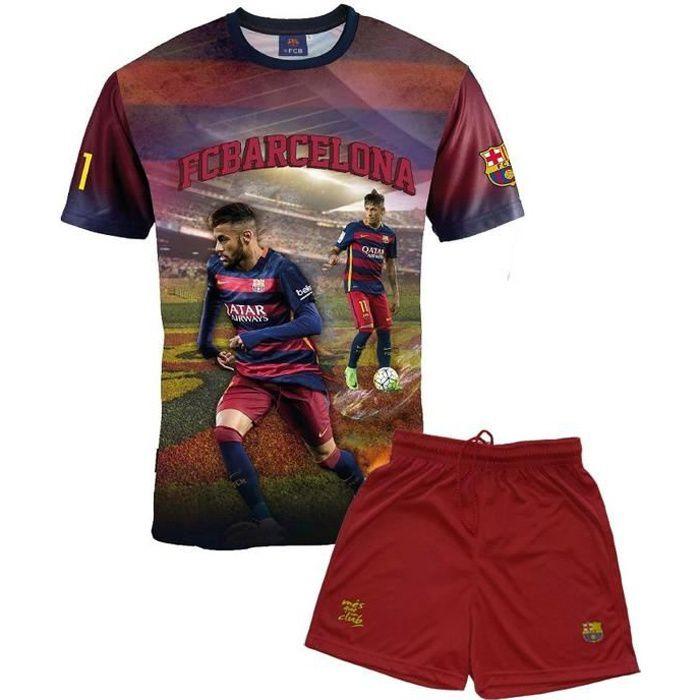 Ensemble Maillot + short Barça - NEYMAR Jr - Collection officielle FC BARCELONE