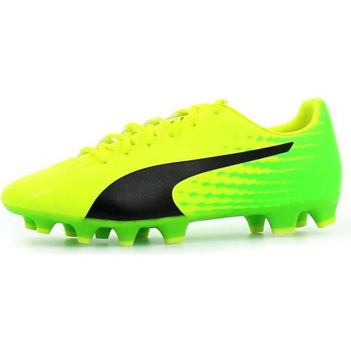 PUMA Chaussures de football EvoSpeed 17.4 FG - Homme - Jaune et vert