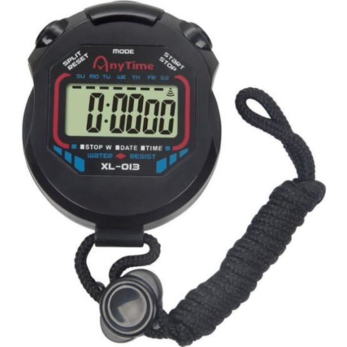 Chronomètre LCD professionnel portable avec fonction d'alarme pour entraîneurs sportifs arbitres de fitness coureur CHRONOMETRE
