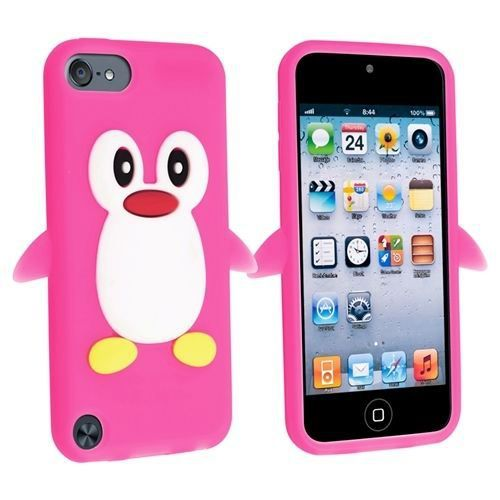 coque ipod touch 5 pingouin rose f 3d achat coque mp3. Black Bedroom Furniture Sets. Home Design Ideas