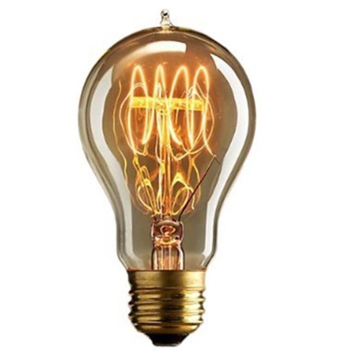 E27 Edison Ampoules à Incandescence Vintage Lampe Filament A19 40W ...