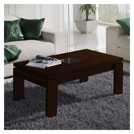 table basse relevable bois weng centre verre achat vente table basse table basse. Black Bedroom Furniture Sets. Home Design Ideas