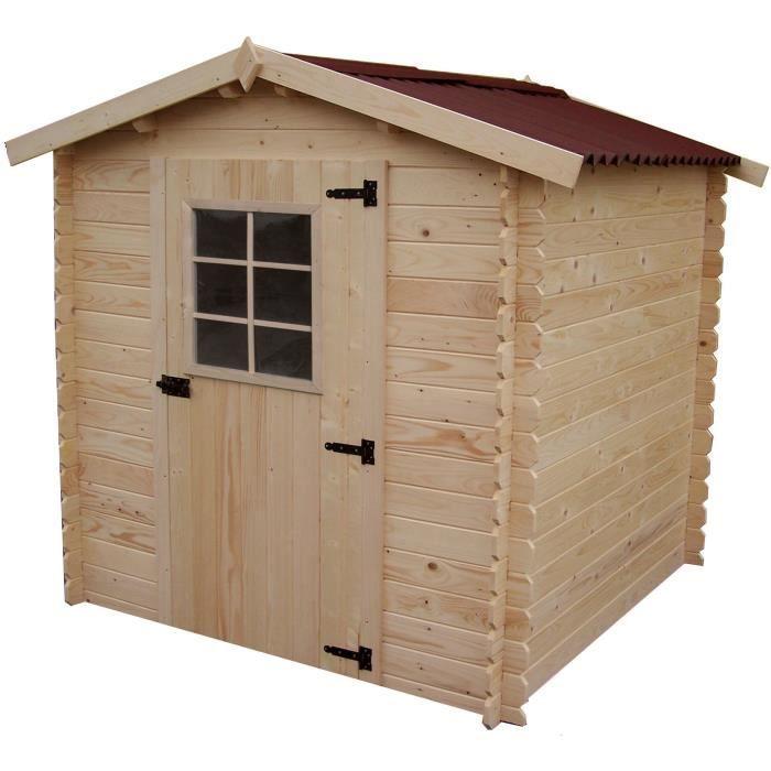 Abri de jardin 4,08m² en bois massif - Toiture en plaques ...