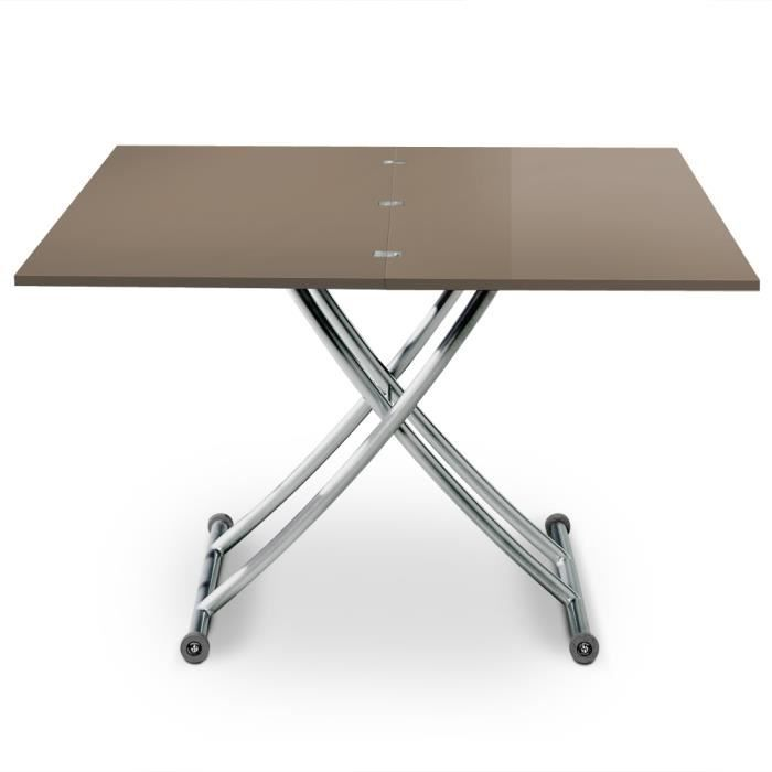basse laqué Table Taupe Carrera relevable Y7gvmIb6yf