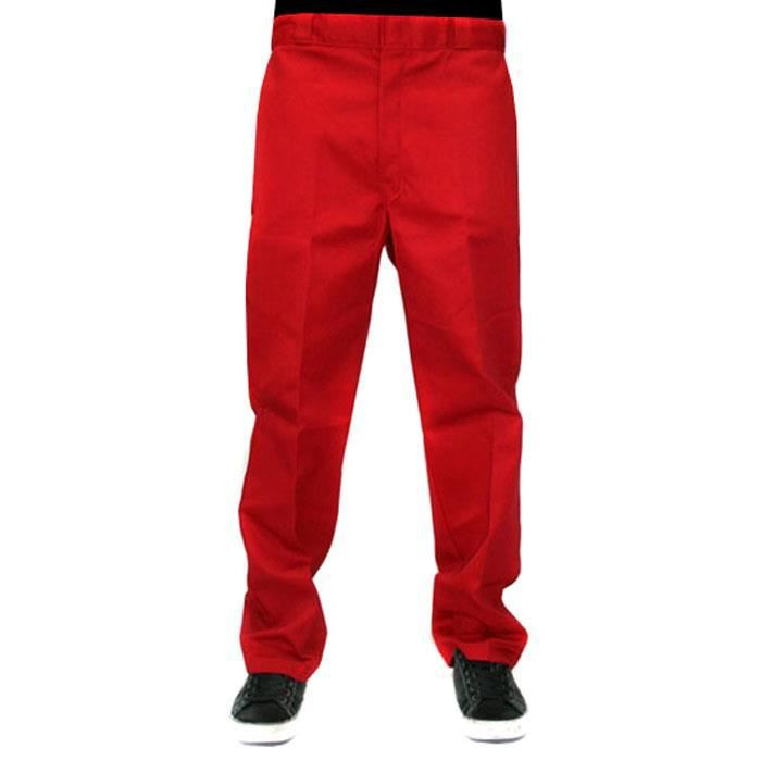 874 Work Pant Red Dickies Achat Vente Pantalon Soldes Cdiscount