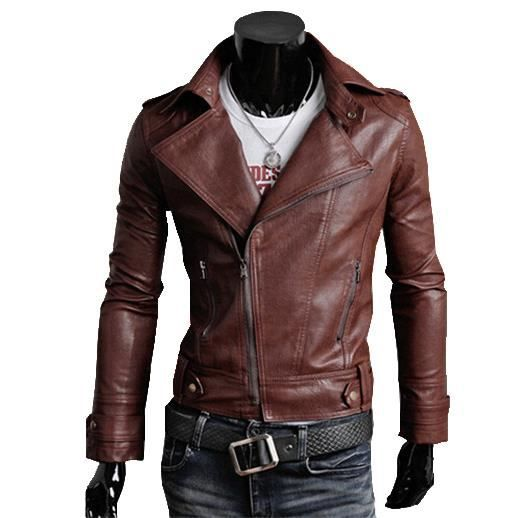 2015 de moto en cuir veste homme blouson cuir rouge marron achat vente blouson cdiscount. Black Bedroom Furniture Sets. Home Design Ideas