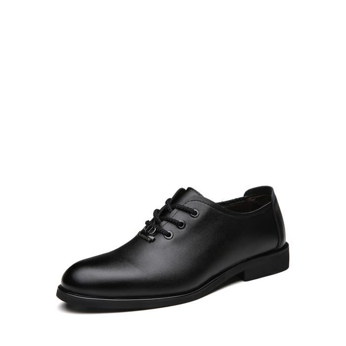 Derby hommes Chaussures Toe entreprise Couleur Pointu solide Chaussures de lacer 13401816 VYwuPT