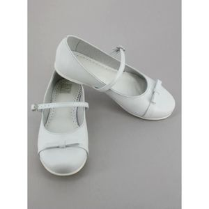 Chaussures blanches fille en cuir Haby W7PTU