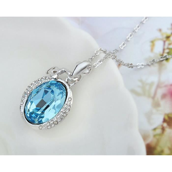 Womens Swarovski Crystal Love-heart-valentine Pendant Necklace. Daily-party Wear Fashion Jewellery UFW65
