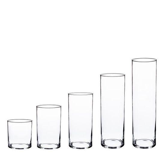 Transparent Verre /à Bougie//Vase Cylindre /Ø 12 cm INNA Glas Vase cylindrique//Photophore en Verre Sansa 15 cm