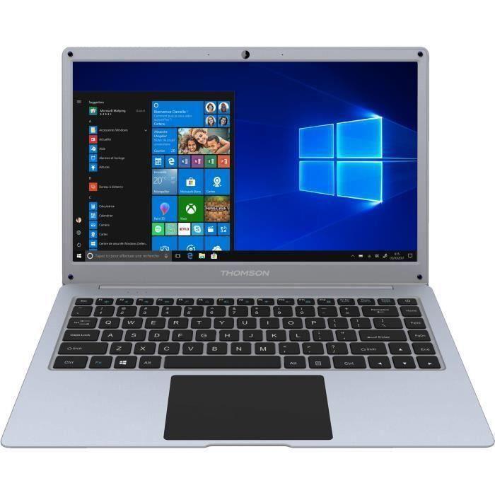 THOMSON PC Portable - NEO14A-4SL64 - 14,1- HD - INTEL Atom X5-E8000 - RAM 4Go - Stockage 64Go eMMC - Windows 10 - Silver