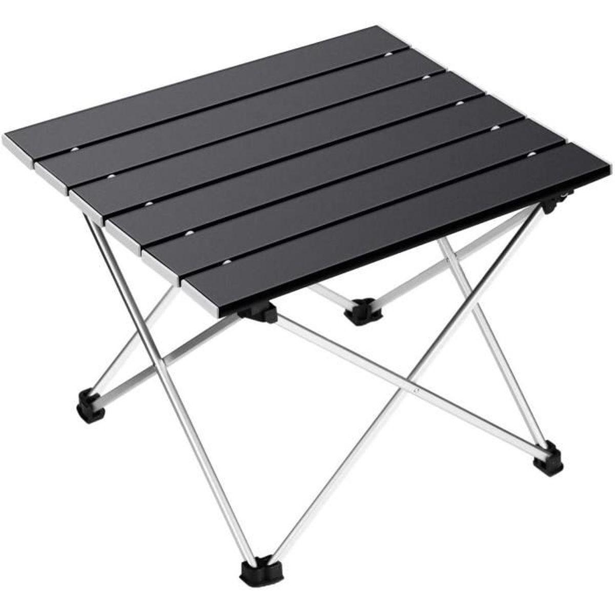 charge maximale 20 kg LWAN3 Table de camping pliante portable ultra l/ég/ère en alliage daluminium pour barbecue table de pique-nique polyvalente avec sac de transport
