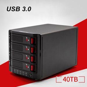 DISQUE DUR EXTERNE 4 baies de stockage RAID disque dur mobile boîte d
