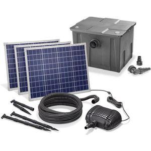 BASSIN D'EXTÉRIEUR Kit pompe solaire bassin avec filtre gros débit Pr