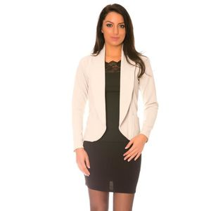 veste femme beige achat vente veste femme beige pas cher. Black Bedroom Furniture Sets. Home Design Ideas