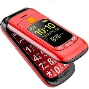 MOBILE SENIOR Téléphone grosses touches mobile sénior à clapet -