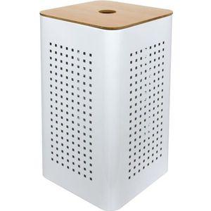PANIER A LINGE WHITE Panier à linge 50 litres - Couleur blanc / n