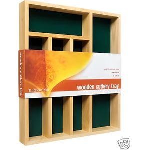RANGE COUVERTS Art de la table tiroir bois range-couverts cuisine