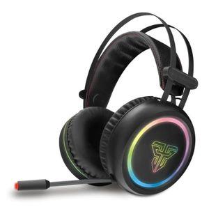 CASQUE AVEC MICROPHONE USB 7.1  Casque Gamer  LED RGB Light, Ecouteurs av