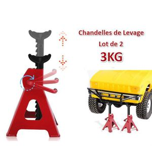 CHANDELLE Kit de chandelles de levage 3T -lot de 2/rouge