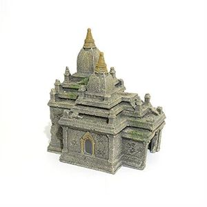 AQUARIUM Rosewood Polyresin Bagan Temple Ruins Aquarium Orn