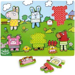 PUZZLE Vilac - 2508 - Puzzle - Encastrement des Animaux d