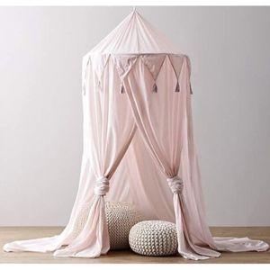 MOUSTIQUAIRE DE LIT Ciel de lit Moustiquaire en coton pour petite Prin