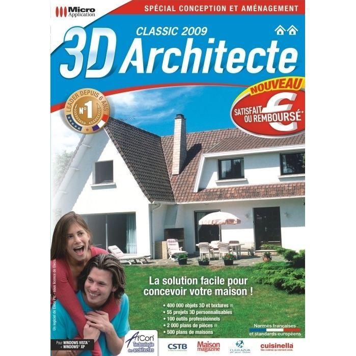 3D ARCHITECTE CLASSIC 2009 / LOGICIEL PC DVD-ROM