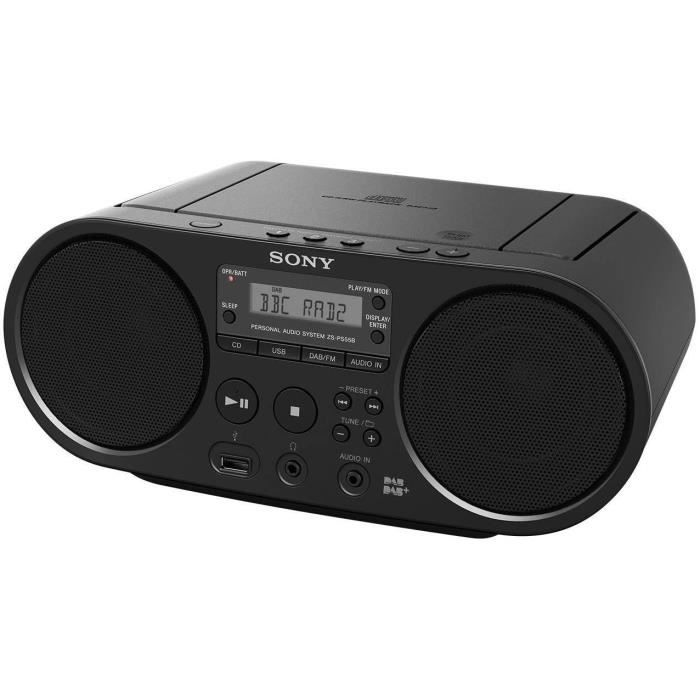 Sony ZS-PS55B DAB/DAB Fm CD Boombox Avec USB Playback - (Noir) B+