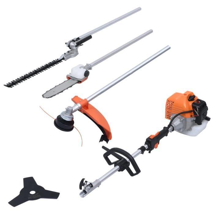 BEL Ensemble multi-outils à essence de jardin taille-haie,sécateur,débroussailleuse,coupe-herbe