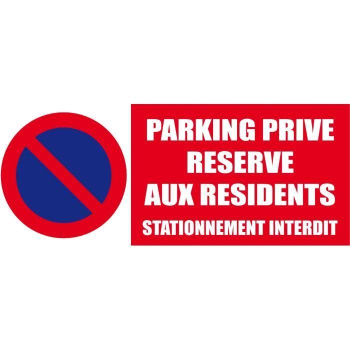 Parking privé réservé aux résidents