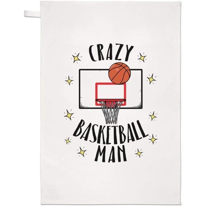 Fou Basketball Homme Thé Serviette Plat Tissu