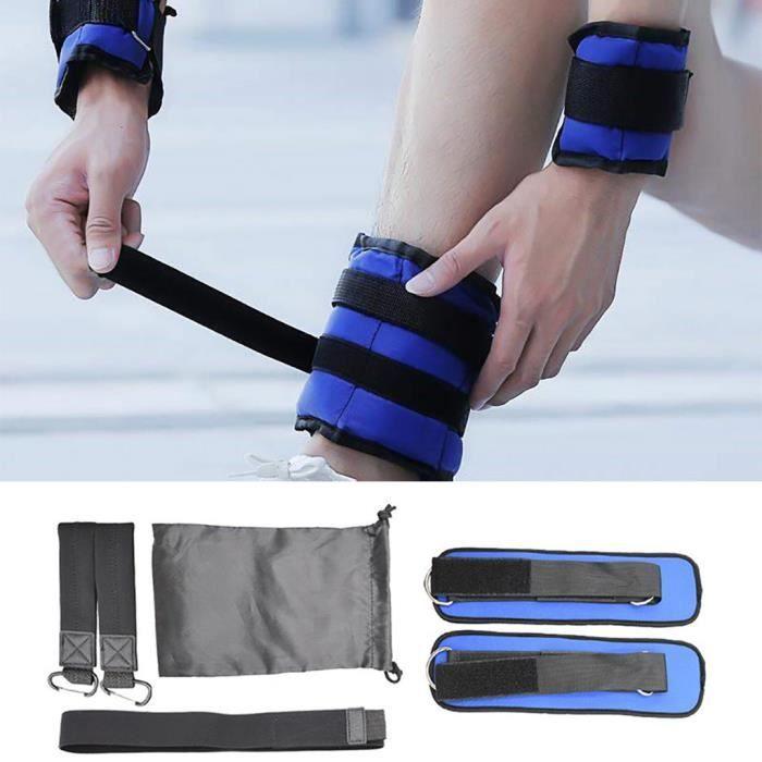 Poids de poignet de cheville réglables pour l'entraînement de remise en forme, exercice de jambe de course, jeu de 13 427
