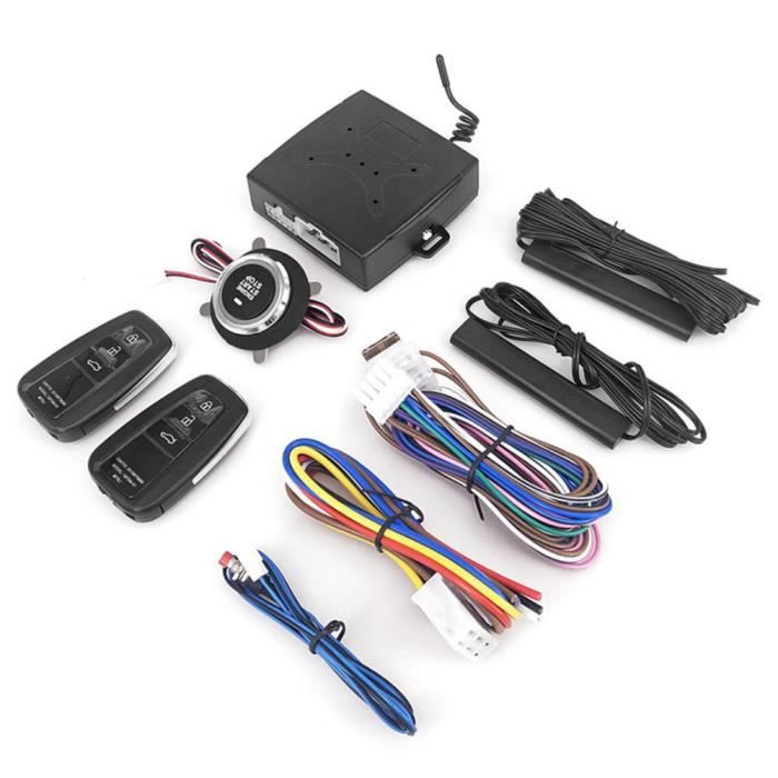 Antivol - Bloque Roue,Système de démarrage sans clé voiture antivol système d'alarme à distance Auto SUV bouton de - Type For x7