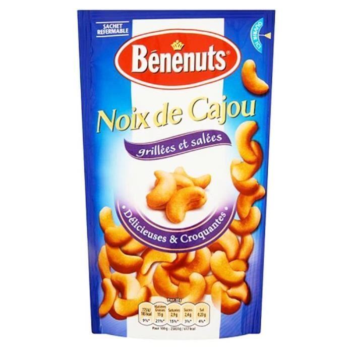 Bénénuts Noix De Cajou Grillées 125g (lot de 10 x 3 paquets)