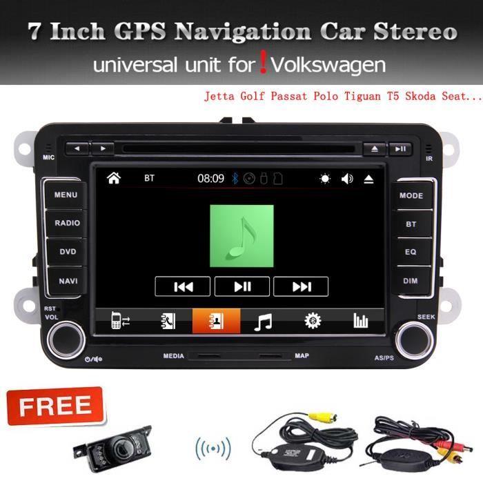 7 pouces à écran tactile capacitif stéréo de voiture radio pour VW Golf MK5 MK6 Passat Polo Jetta Caddy Tiguan Touran, Sharan T5 Sko