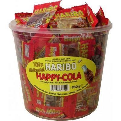 100 Haribo mini-sac de bouteilles de Happy-Cola