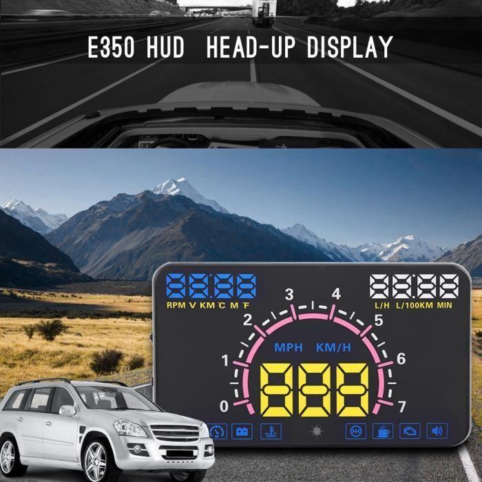 Universel 5.8 Affichage tête haute pour voiture avec interface OBD2 et EUOBD Avertissement concernant la vitesse -MLP