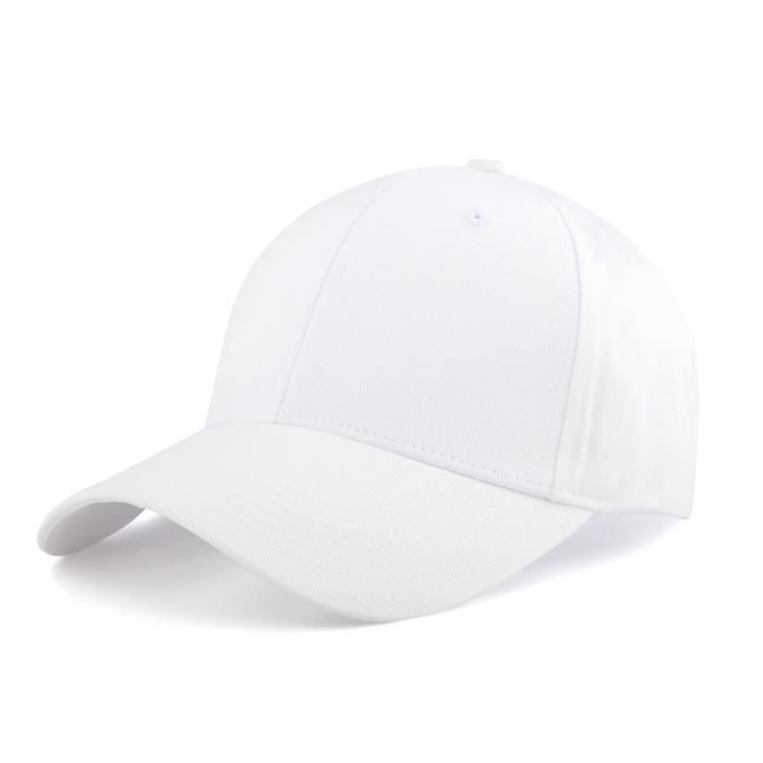Casquette Baseball,Trucker Cap Snapback Hat for Sport Hip Pop Golf - Casquette Homme Femme,blanc