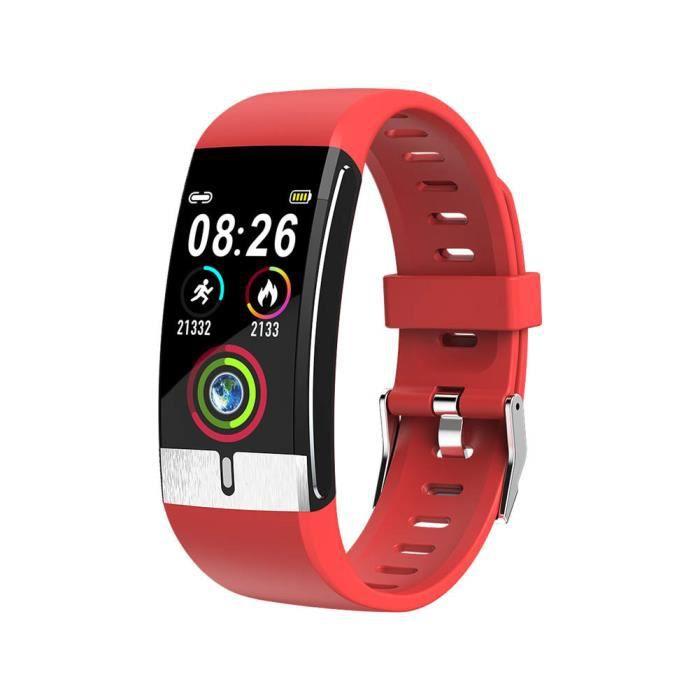 Montre intelligente Smart Fitness Bracelet IP68 étanche fréquence cardiaque pression oxygène moniteur de santé bracelet - ROUGE