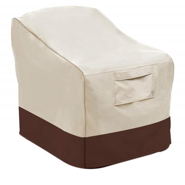 Couvertures de Chaise de Patio éTanches une la PoussièRe de Salon Couvercle de SièGe Profond Couvertures de Meubles de Patio