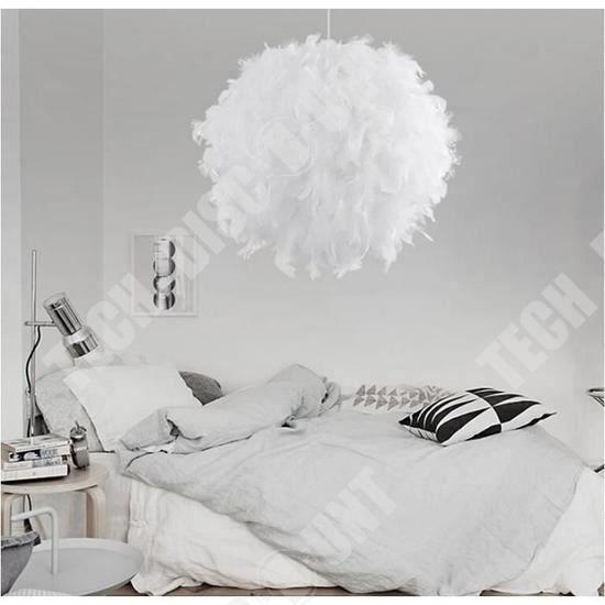 TD® Lustre en plumes design moderne intérieur extérieur décoration tendance éclairer maison efficacement apparence artistique unique